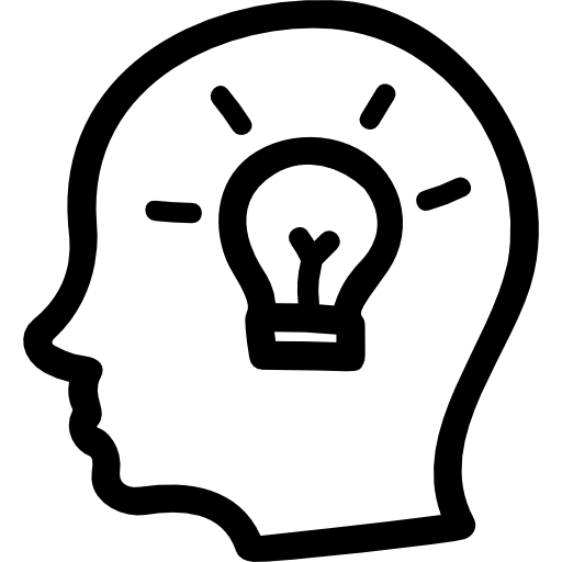 idea-hand-drawn-symbol-of-a-side-head-with-a-lightbulb-inside
