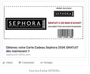 Hoax sephora Faceook