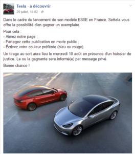 Tesla hoax facebook